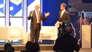 Eckard Heidloff, president and CEO of Wincor Nixdorf, officially opened 2012 Wincor World at noon on Tuesday with a Q&A session in which he gave a preview of show highlights.