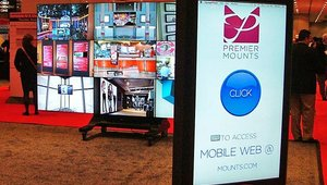 Premier Mounts displayed the possibilities its mounting solutions create for digital signage.