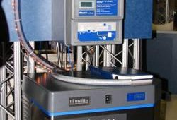 Follet's Ice Manager automatically fills two bins with Chewblet nugget ice from one Horizon icemaker, with sonic technology monitoring ice levels, auto-fill feature means less handling of ice, improving product safety and eliminating spillage.