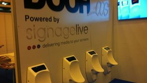 """<p>Chances are most attendees will remember MOOH Group's """"DOOH Loos."""" Yes, digital signage mounted in urinals.</p>"""