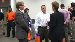 Members from the local Chamber of Commerce attended the event to welcome the opening of the new business.