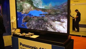 Also at the PSCo booth - Panasonic's traffic-stopping 103-inch plasma screen.
