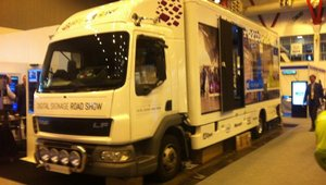 <p>AOpen's Digital Signage Road Show truck.</p>