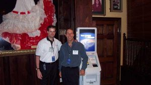 Mike Lee and I couldn't part from our beloved ATM.