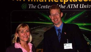 Amanda Hardy and my always-smiling colleague at ATMmarketplace, Steve Warner.