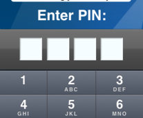 The Cimbal application is PIN protected to safeguard user data.