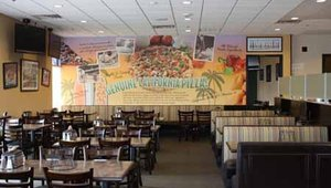 One of Straw Hat Pizza's new components is an internal redesign, which includes larger-than-life murals depicting the company's California roots through iconic images of the Golden State.