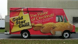 Gold Star's new mobile serving units are dubbed ChiliMobiles and feature a full kitchen that serves the full product line. The five units are wrapped in Chilitown USA and Gold Star messaging to market the brand.