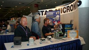Fred Hoffman (left) with Star Micronics.