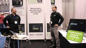 Industry newcomers Russell Hempel and Scott Jantz were showcasing their new Freshtxt technology solution. Freshtxt gives restaurants the ability to text dine-in guests when their table is ready.