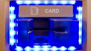 The machine is available with an EMV-ready motorized card acceptor.