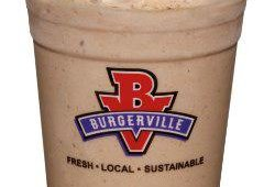 Burgerville offers traditional milkshakes as well as seasonal flavors. Prices for the seasonal shakes are $1 more than traditional milkshakes. Flavors range from Chocolate Hazelnut, to fresh berries and others.