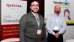 Left to right: Brad Cyprus, chief of compliance, and Christopher Melson, CEO, Vendor Safe Technologies. Vendor Safe was a gold sponsor of the 2011 Fast Casual Executive Summit.