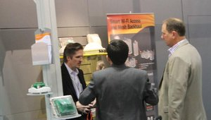 Ruckus Wireless was at the show to explain how it can help retailers offer mobile payments via its Wi-Fi service.