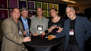 The first night included a sponsor reception. Dick Good (second from left), CEO of FastCasual.com, spent time with reprensentatives from Platinum sponsor MonkeyMedia. They were (fron left) Chad Penner, Jay Zimmerman, Danielle Wolf and Erle Dardick.