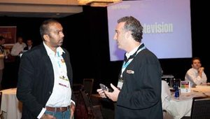 The Nik Bhakta, COO of Genghis Grill, chats with Salad Creations president and CEO Jeff Levine.