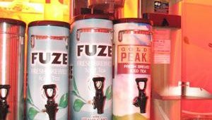 Coca-Cola FoodService featured its two-part Fuze tea system. Fuze offers five flavor varieties, including green tea, black tea, sweetened and unsweetened.