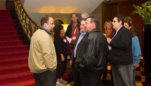 Attendees at the 2011 Fast Casual Executive Summit gather to participate in the opening food tour.