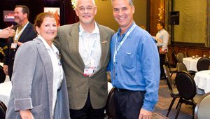 From left: Betsy Craig, founder, MenuTrinfo, Don Fox, CEO, Firehouse Subs, and Julio Ramirez, Giardino's Gourmet Salads