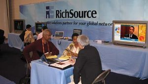 At the RichSource USA booth, company representatives were actively showing attendees how RichSource has specialized in providing networked digital signage solutions in Hong Kong and is now bringing those solutions to the U.S. market.