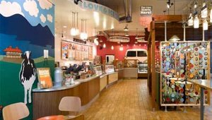 "Tesser was given the task of blending Ben & Jerry's voice and packaged ice cream personality with the new store design. The ultimate goal was to turn the stores into an ""adult"" cafe destination rather than a quick-stop."