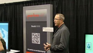 Brian McClimans from Peerless AV also showed off a Peerless highlight during the press briefing.