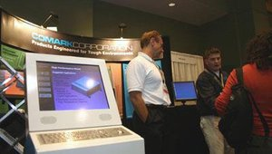 Representatives from Comark Corporation were prepared to discuss their indoor and outdoor kiosk solutions.