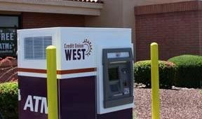 After: Credit Union West after Triton FT7000 and custom ATM surround installation.