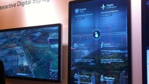 <p>Elo's new 55-inch interactive digital sign with multitouch.</p>