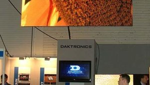Daktronics, celebrating its 41st anniversary, dominated the skyline at the back of the conference center.