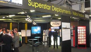 The SuperStar Deployments booth featured large and significant kiosk deployments, chosen by the organizers of KioskCom Europe.