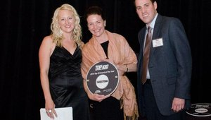 Judy Kadylak, director of marketing for Bruegger's Bagels, accepted the No. 9 recognition. The provider of New York-style bagels was named one of the 2012 top 50 franchise opportunities by Franchise Business Review.