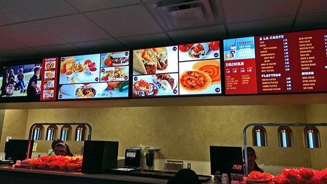 Digital menu boards the perfect value combo for operators