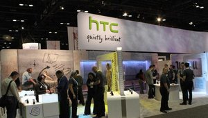 HTC took up a lot of space with its impressive-sized booth.