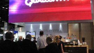 The Qualcomm booth featured giant digital signage and a variety of new technologies.