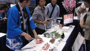 True World Foods' sushi chefs dazzled the crowds at the 2008 Florida Restaurant and Lodging Show.