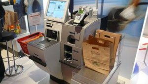 The solution Wincor Nixdorf buit and designed for IKEA includes a paper-bag option at self-checkout — a more environmentally sound option.
