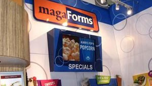 Visual Graphic Systems displayed its new magaForms menu board offering. The boards feature interchangeable magnetic images that restaurants can customize.