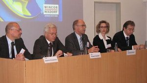 Wincor executives shared the company's corporate strategy during a press conference Jan. 21.