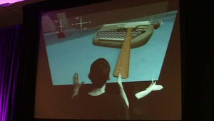 """Day one keynote speaker John Underkoffler (of """"Minority Report"""" fame) discussed a possible new """"gestural language"""" for gesture-interactive displays."""