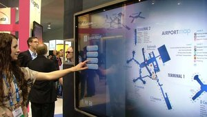 Erin Doherty of Four Winds Interactive showed off the firm's wayfinding solution.
