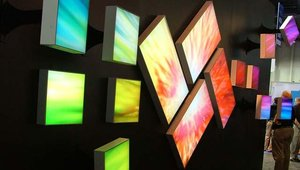 Planar highlighted its architectural digital signage.