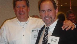 Shown above are WRG president Jim Penza and Jim Tingey, Palm Desert National Bank's senior vice president of administration for the Electronic Banking Division.