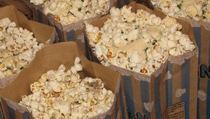 A Grahamwich staple is their popcorn. Once heated, the popcorn is tossed with parmesan cheese, herbs and truffle oil.