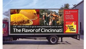 The mobile serving units also serve as marketing tools for the brand's retail products, a line of frozen and shelf-stable menu items sold in grocery stores in the Greater Cincinnati market.