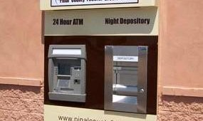 After: Pinal County Federal Credit Union after Triton FT5000 and custom ATM surround installation.