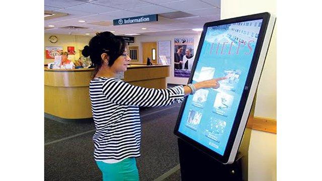 Pantalla interactiva hospital