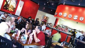 Rex's atmosphere allows customers to enjoy their meal with family and friends.