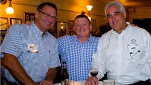 From left: Scott Miller, from Burke Corp.; Dirk Merle, from VAP wheat co-op; and Steven Willis, with Musco Family Olive Co.