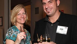 Tricia Murphy, from NEC, and Jason Ashcraft, organizer for Summit producer NetWorld Alliance, at the opening reception.
